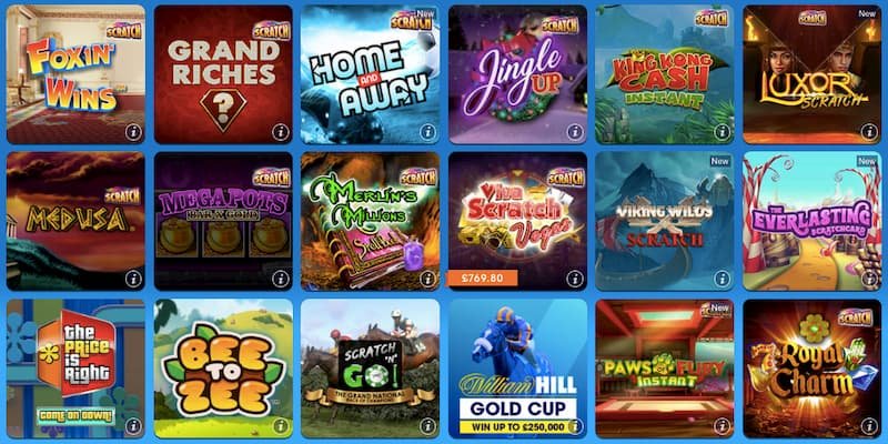 william hill online scratchcard games