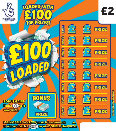 £100 loaded national lottery scratchcard 2020