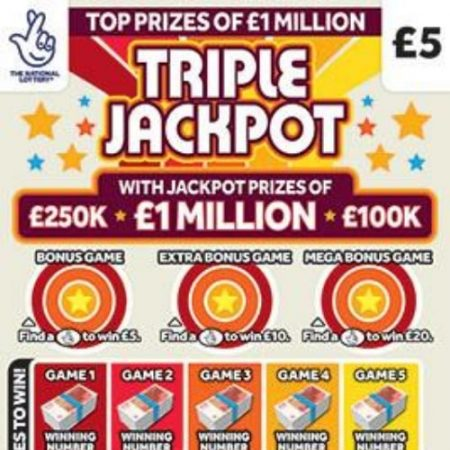 New National Lottery Scratchcards: August 2020