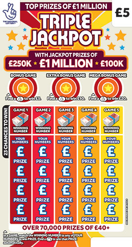 triple jackpot scratchcard 2020