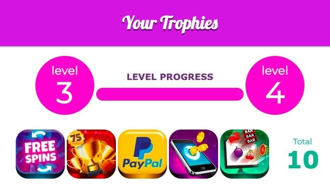 fairground slots trophies screenshot