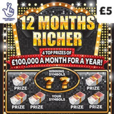 12 Months Richer Scratchcard