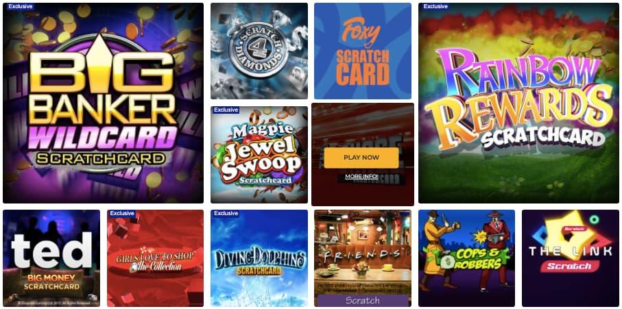 foxy games online scratchcard screenshot