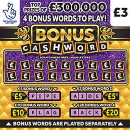 Cashword Bonus 2020 Scratchcard
