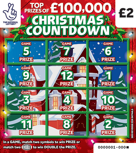 christmas countdown scratchcard