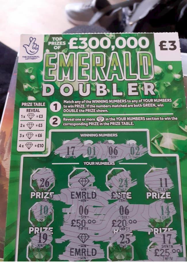 emerald doubler scratchcard winner