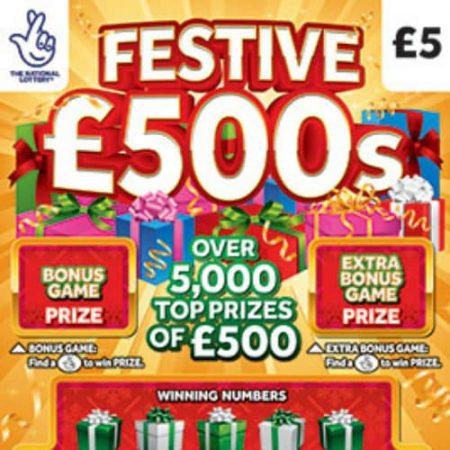 Festive £500s Scratchcard