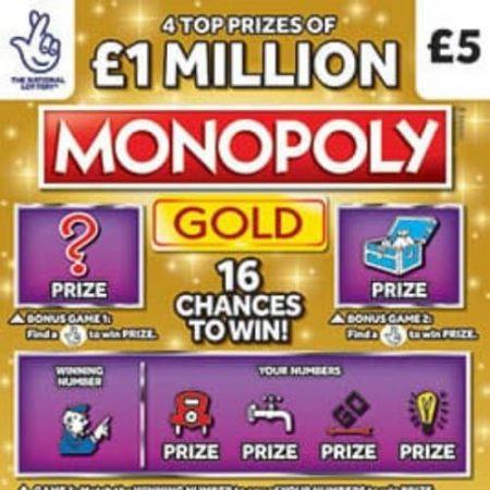 £1 Million Monopoly Gold Scratchcard