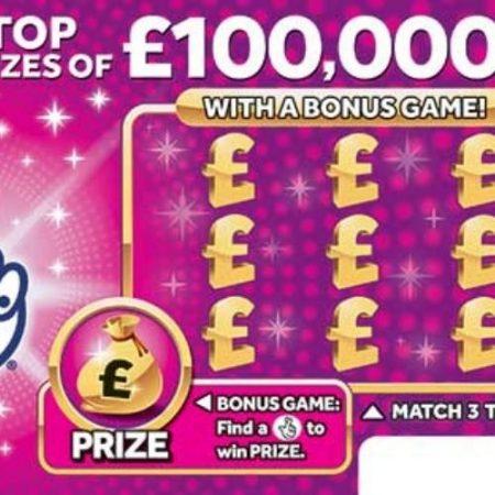 £100,000 Pink Scratchcard