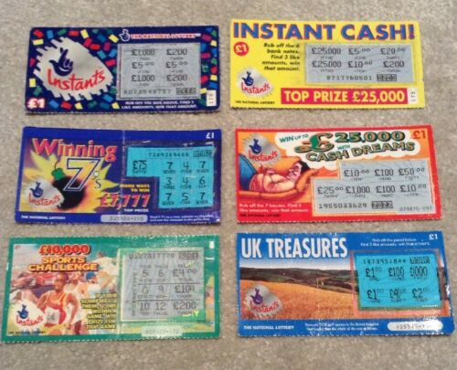 first edition national lottery scratchcards