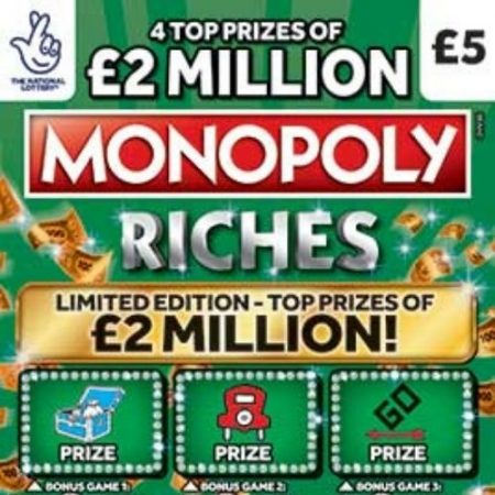 Monopoly Riches Scratchcard