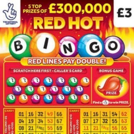 Red Hot Bingo Scratchcard