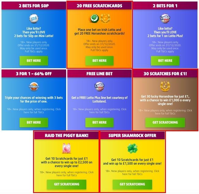 Lottoland Promotions screenshot