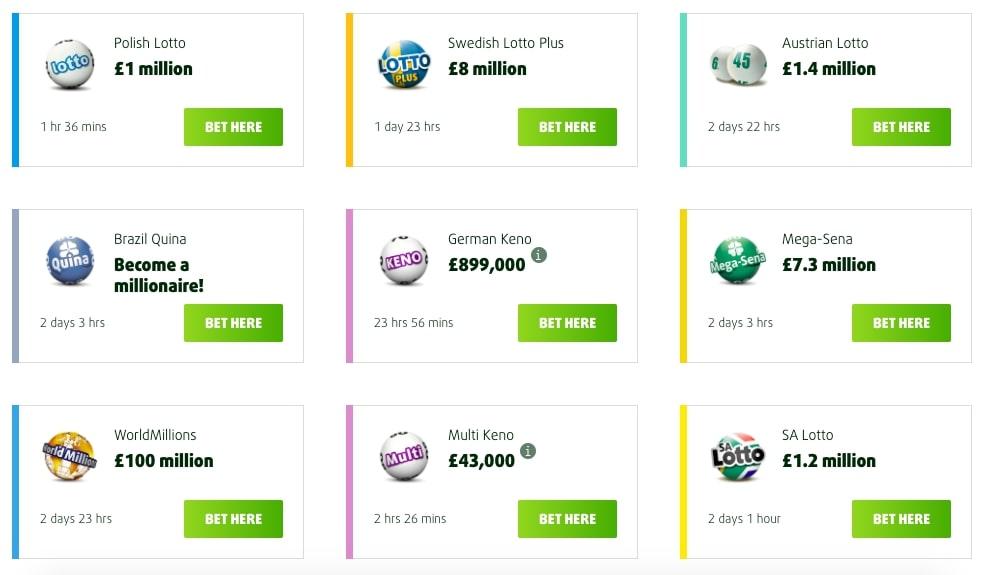Lottoland online lotteries screenshot