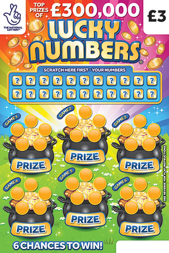 Lucky Numbers 2020 National Lottery Scratchcard