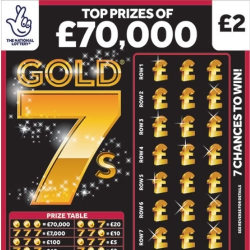 Gold 7s Scratchcard