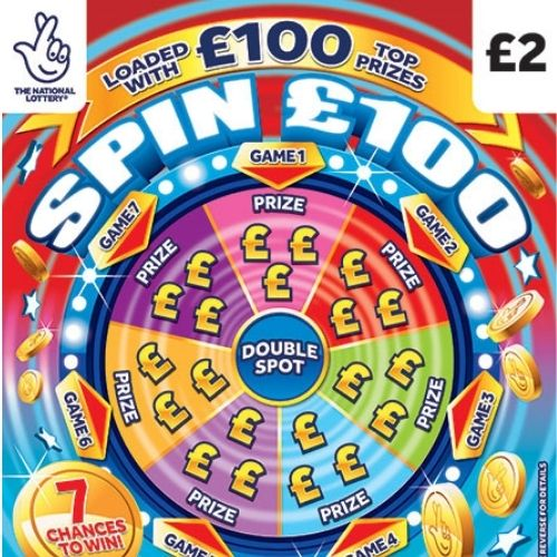 Spin £100 Scratchcard