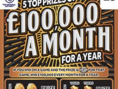 £100k a Month For a Year (2021) Scratchcard
