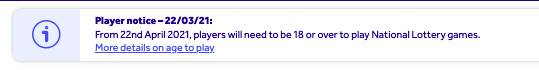 national lottery age update screenshot