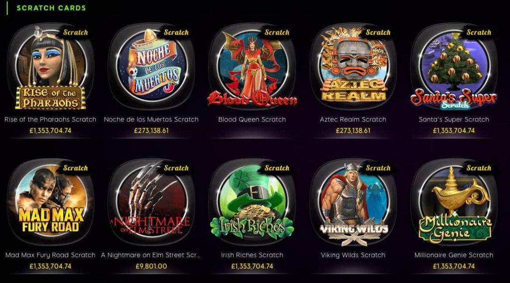 888 online casino scratchcards screenshot