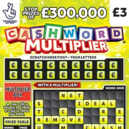 Cashword Multiplier (1242) Scratchcard