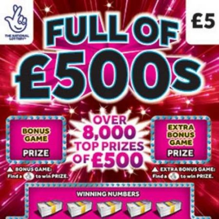 Full of £500s (2021) Scratchcard