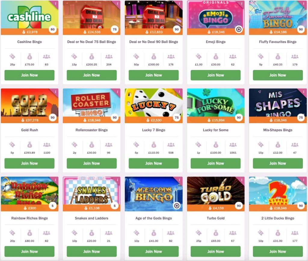 mecca bingo online bingo screenshot