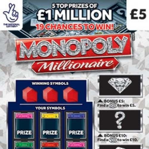 Monopoly Millionaire (2021) Scratchcard