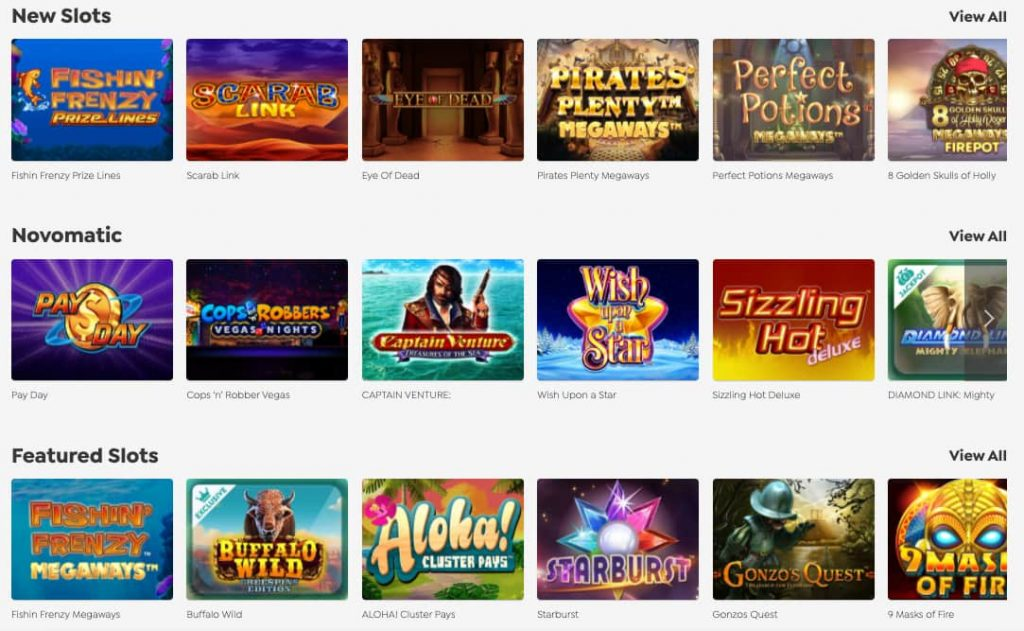 spin and win online slots screenshot