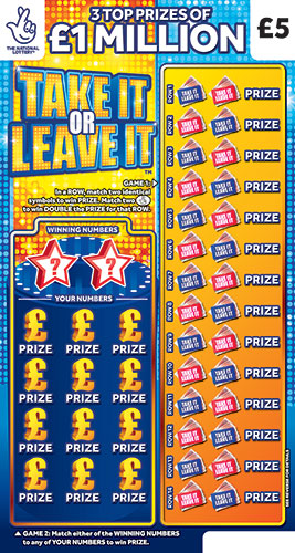take it or leave it scratchcard