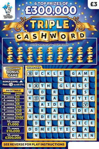 triple cashword blue scratchcard