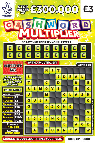 cashword multiplier 1242 scratchcard
