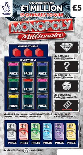 monopoly millionaire 2021 scratchcard