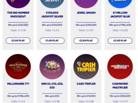 National Lottery Withdraw £10 Instant Win Games