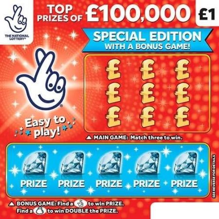 £100,000 Red (2021) Scratchcard