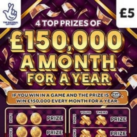 £150,000 a Month For a Year Scratchcard
