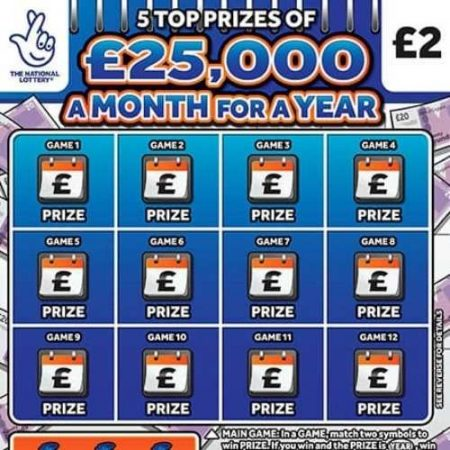 £25,000 a Month For a Year Scratchcard