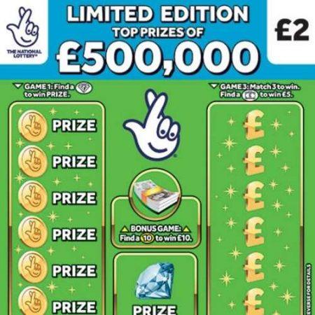 £500,000 Green Scratchcard