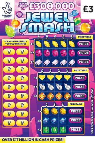 Jewel Smash 2021 Scratchcard