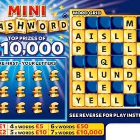 Mini Cashword Scratchcard