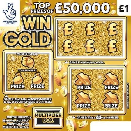 Win Gold Scratchcard