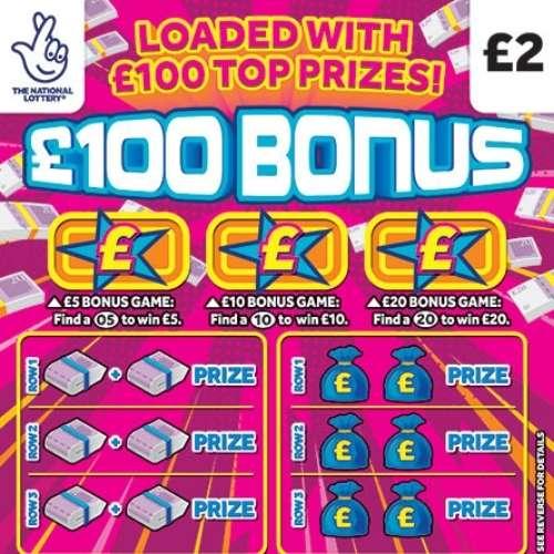 £100 Bonus Scratchcard