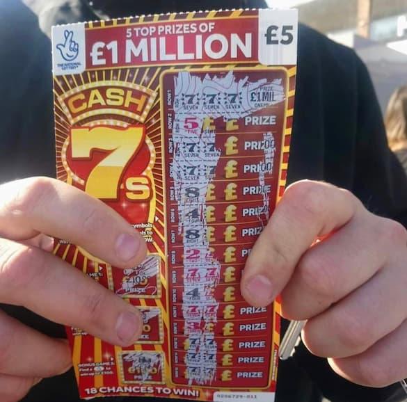 £1,000,000 Jackpot on Cash 7s Scratchcard