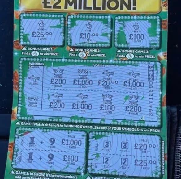 £5000 Monopoly jackpot scratchcard winner