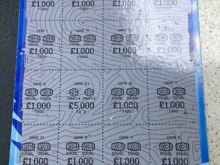Pictures of Winning Scratchcards