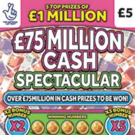 £75 Million Cash Spectacular Scratchcard
