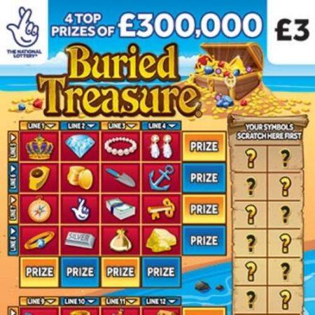 Buried Treasure Scratchcard