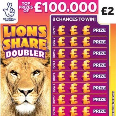 Lions Share Doubler Scratchcard