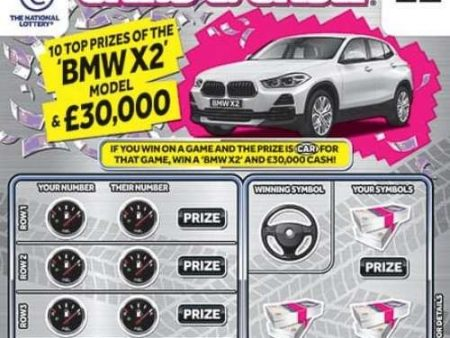 Cars and Cash Scratchcard