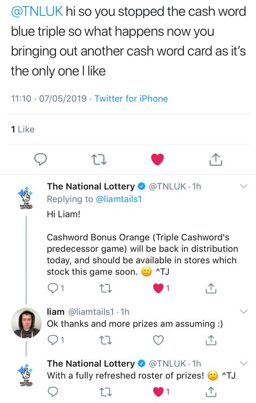 national lottery twitter screenshot